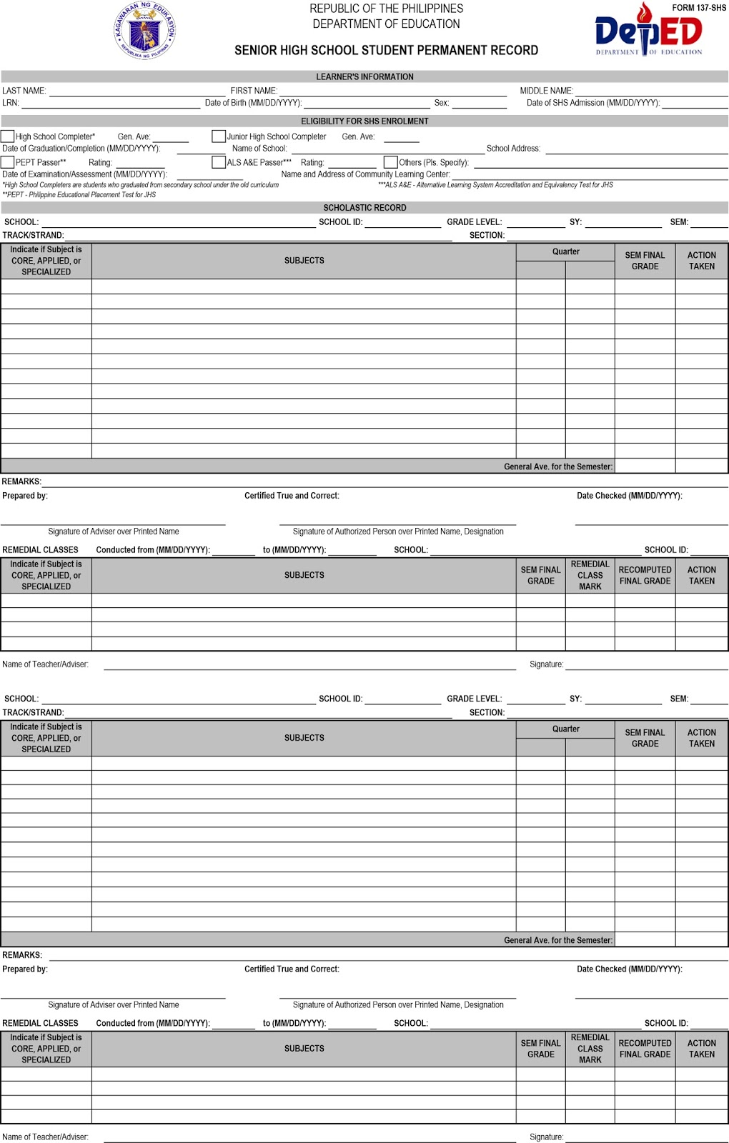 Automated School Form 2 Deped Excel