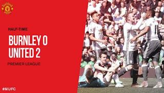 HT: Burnley vs Manchester United 0-2
