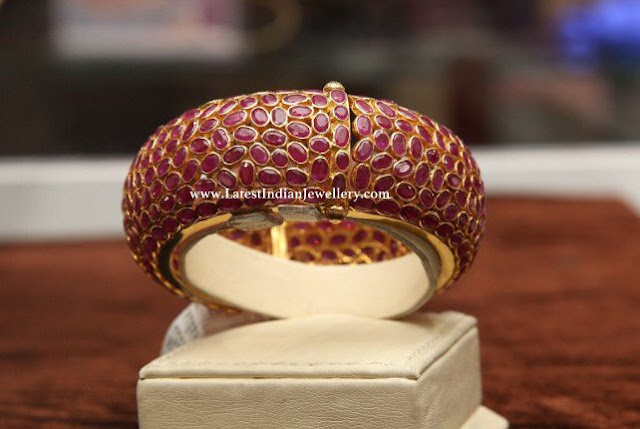 Rubies Studded Broad Bangle