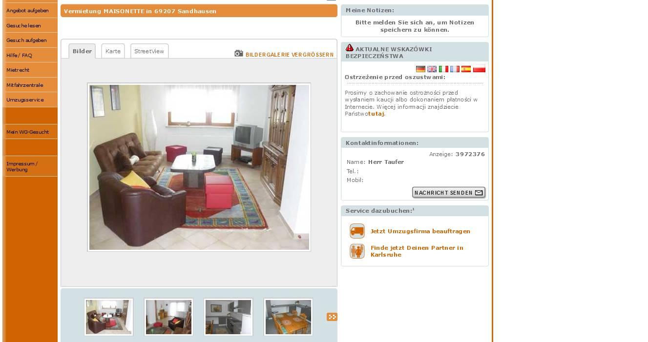 Zimmer Wohnung Karlsruhe Oberreut