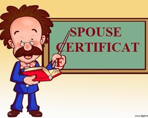 Image result for SPOUSE certificate