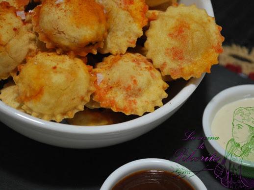 Raviolis fritos #singluten by #NuriaChef