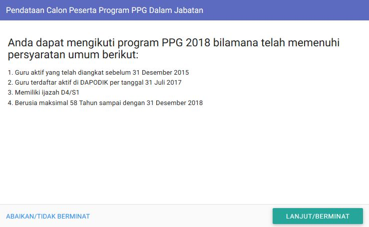 Undangan Pendataan Program PPG Dalam Jabatan 1bb9b0a62d