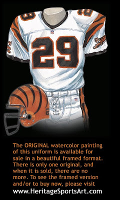 Cincinnati Bengals 1997 uniform
