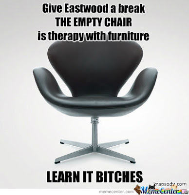 Eastwood's empty chair therapy