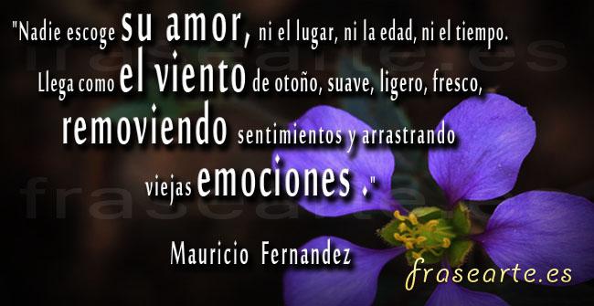 Frases de amor de Mauricio Fernández