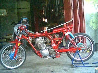 Modifikasi Motor Cb Drag Bike