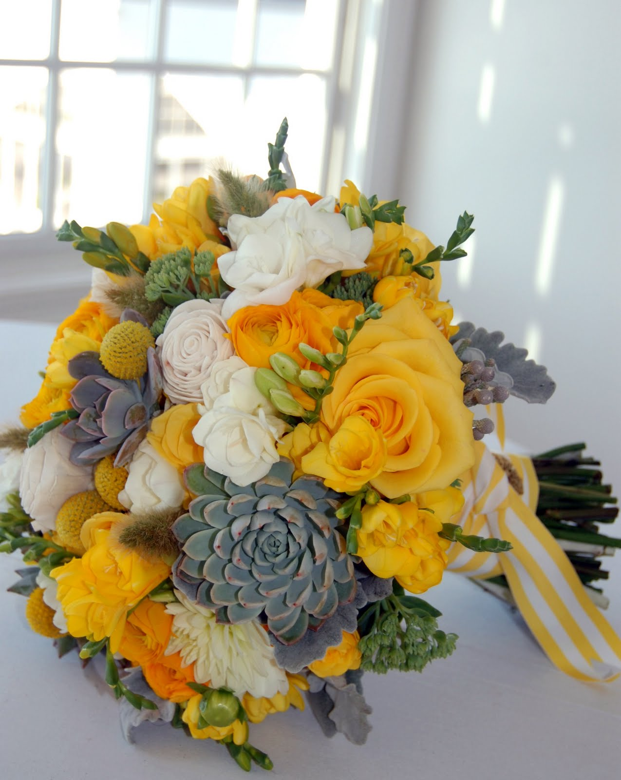 Flowers By Semia: Lindsey's Yellow Wedding