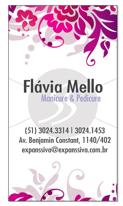 M1211 cartoes de visita manicure pedicure - Cartões de Visita para Manicure e Pedicure