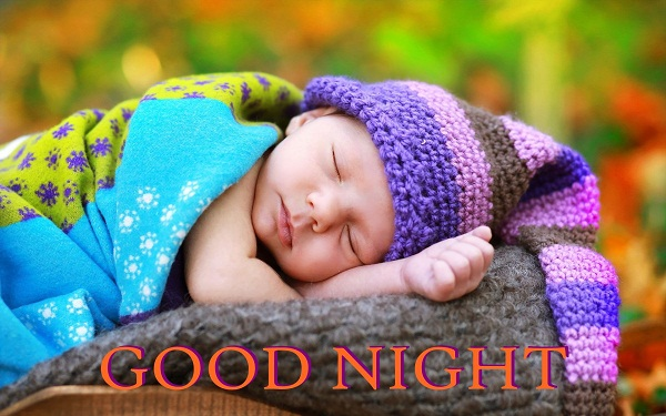 Beautiful Good Night Sleeping Baby Image