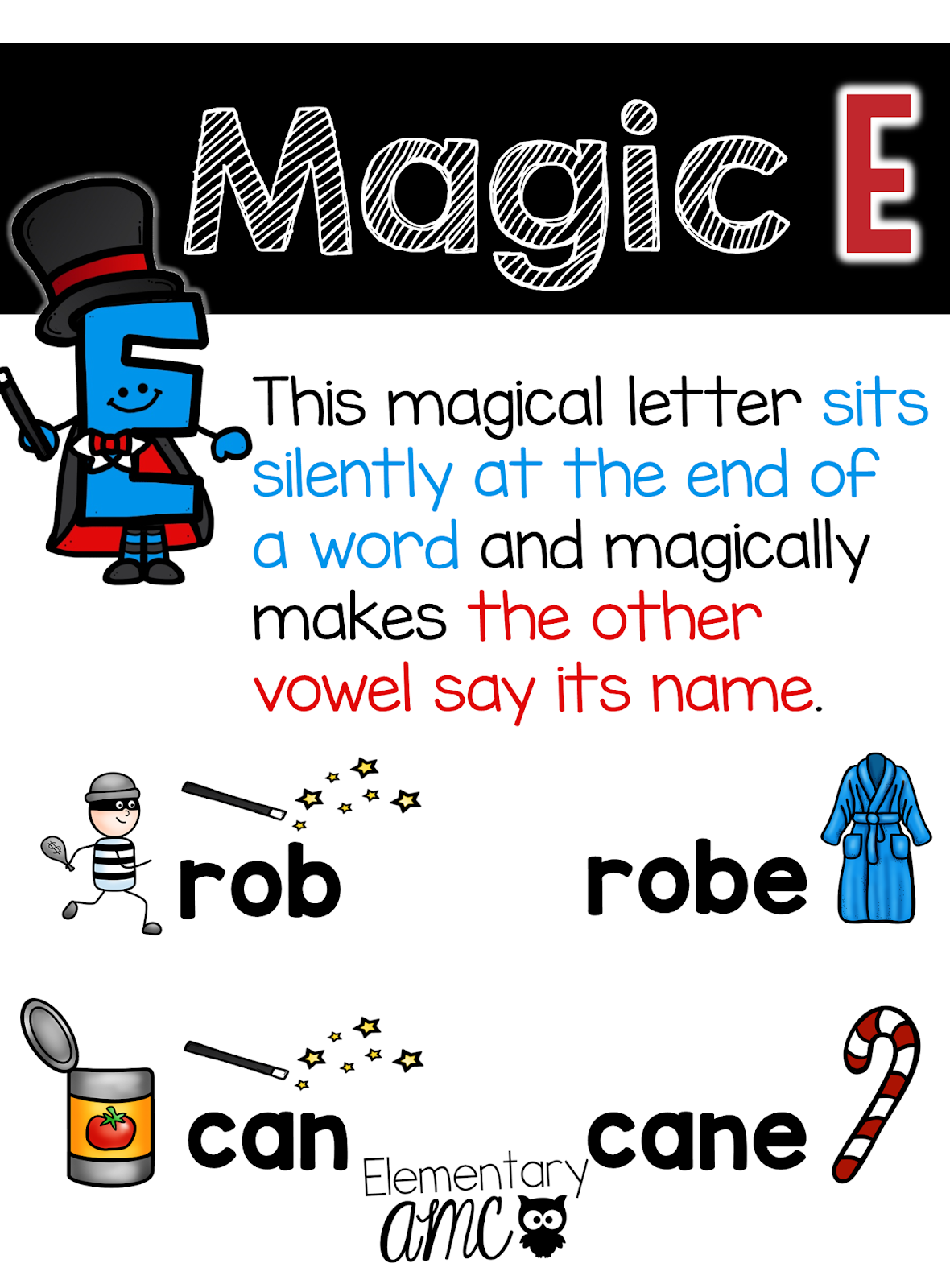 Teaching with Magic E - CVCe Teaching Ideas - Elementary AMC [ 1600 x 1180 Pixel ]