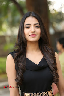 Telugu Actress Rukhsar Mir Stills in Black Long Dress at Aakatayi Movie First Look Launch  0044.JPG