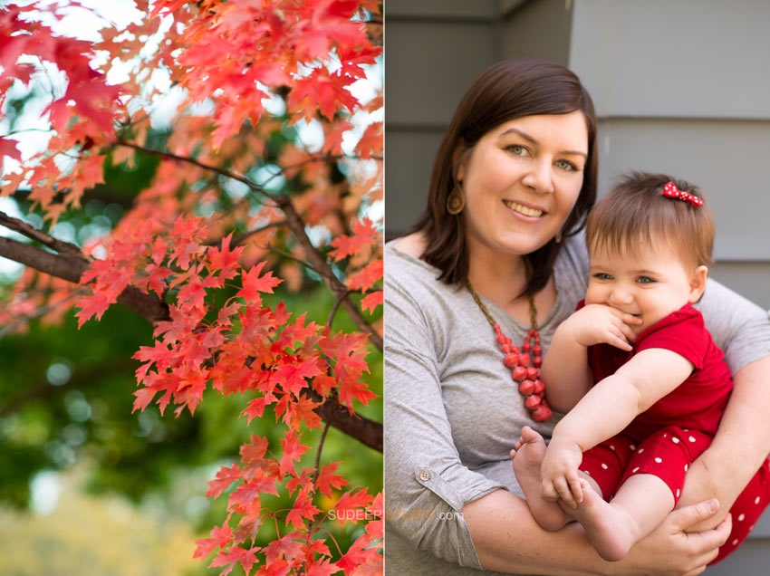 Fall Baby Portrait Photography - Sudeep Studio.com Ann Arbor Photographer