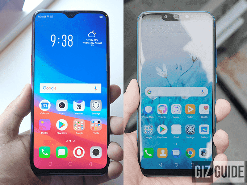 OPPO F9 vs Huawei Nova 3i Specs Comparison