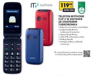 Telefon myPhone Flip II z Biedronki Flip 2 ulotka gazetka Biedronka