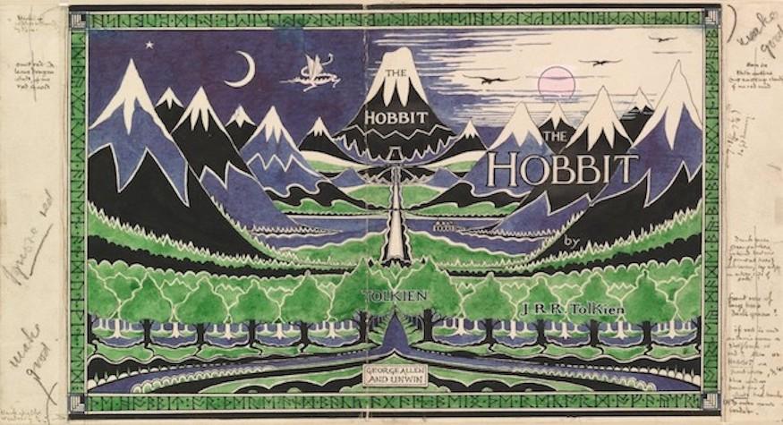 Original Dust Jacket for The Hobbit by J.R.R. Tolkien