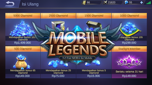 Cara Top Up Beli Diamond Mobile Legends Pakai Pulsa Dan Kartu Kredit
