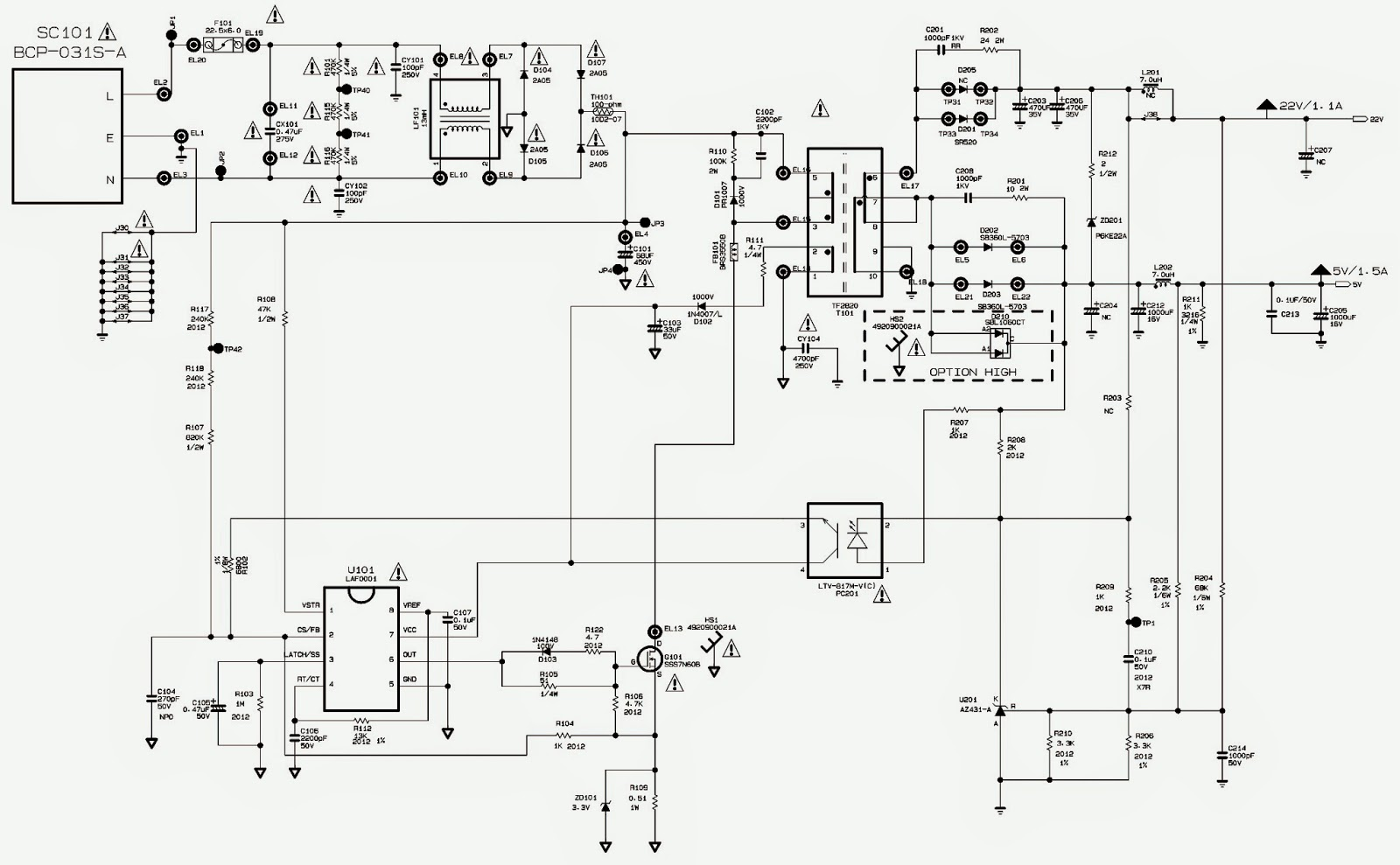 Schematic Diagrams: LG FLATRON W1942S LCD MONITOR