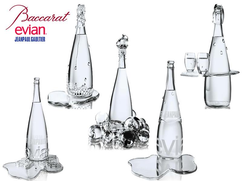 baccarat evian bottles