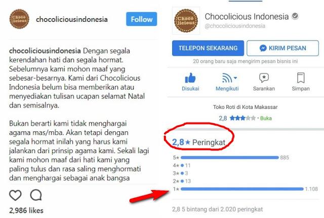 Facebooker Ramai-ramai Bantu Fp Chocolicious yang diserbu Kaum Intoleran