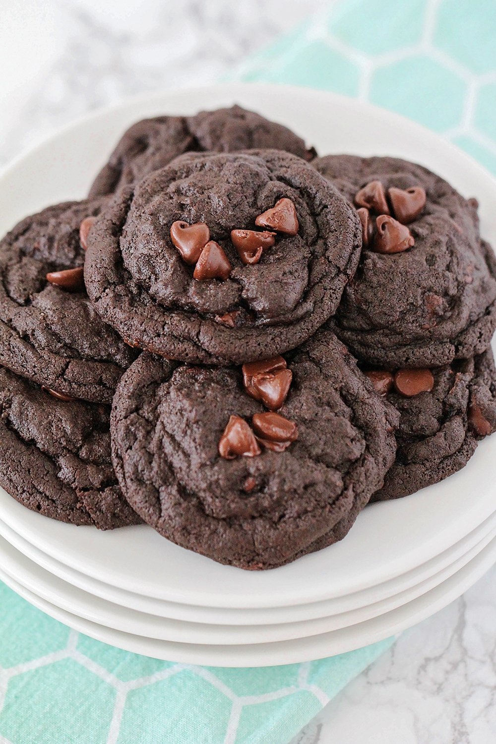 These rich and decadent fudgy double chocolate cookies are the perfect way to satisfy your chocolate craving!