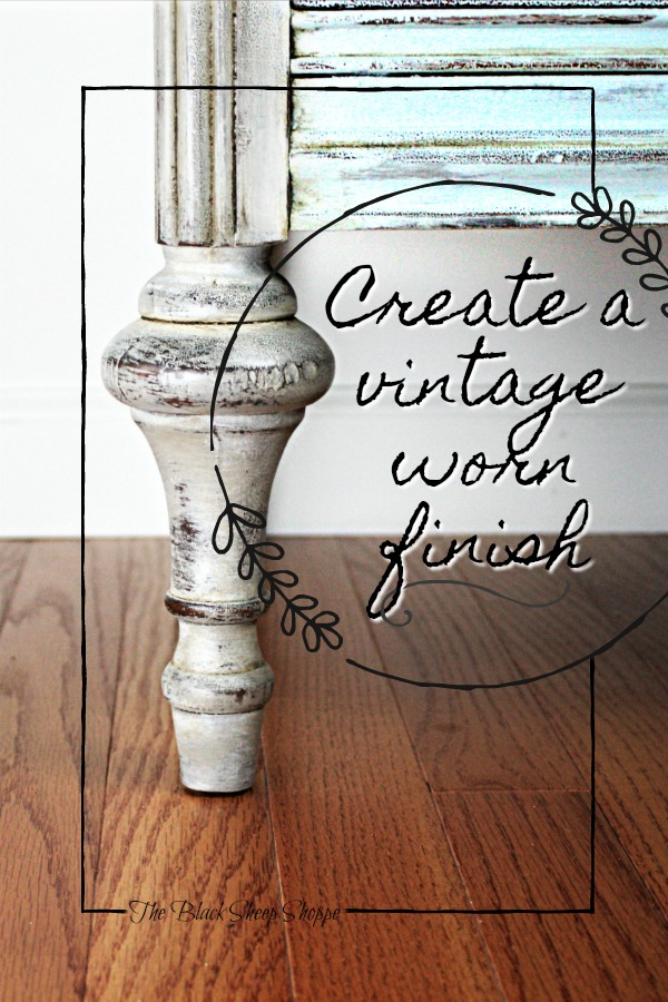 Create a vintage worn finish with paint.