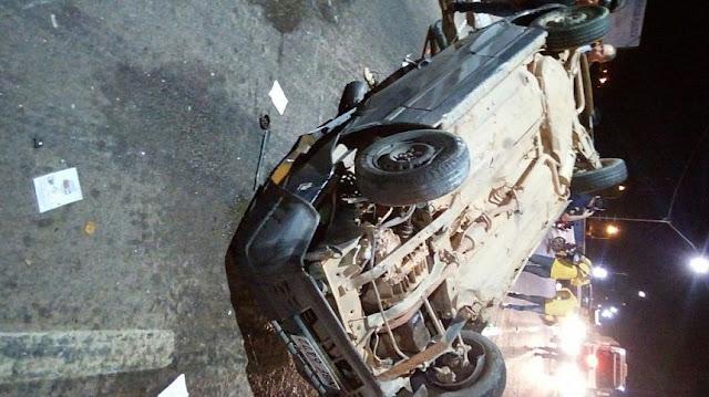 🔴 AGORA Acidente grave na cabeceira da Ponte sobre o Rio Machado destrói veículo