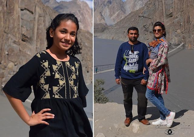 Punjabi: tourists from the south at Hussaini bridge, Upper Hunza © Bernard Grua