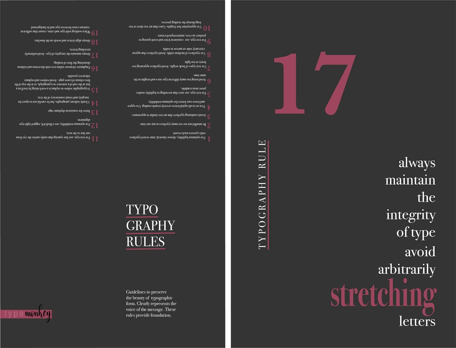 Type & Pub S19- Maddy: P4- Rules Poster / Flyer
