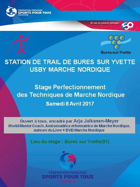 Stage de perfectionnement de Marche Nordique le 8 Avril 2017 à Bures sur Yvette (91)