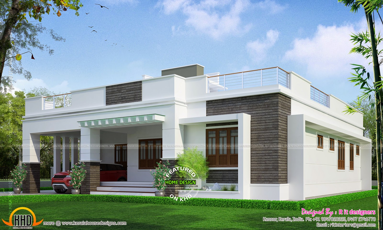 Elegant single floor house design kerala home design and for Elegant home designs