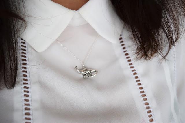 Style   JewelleryBox.co.uk - Dinosaur Necklace Worn