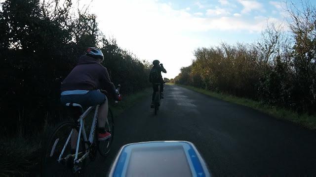 My kids on their bikes