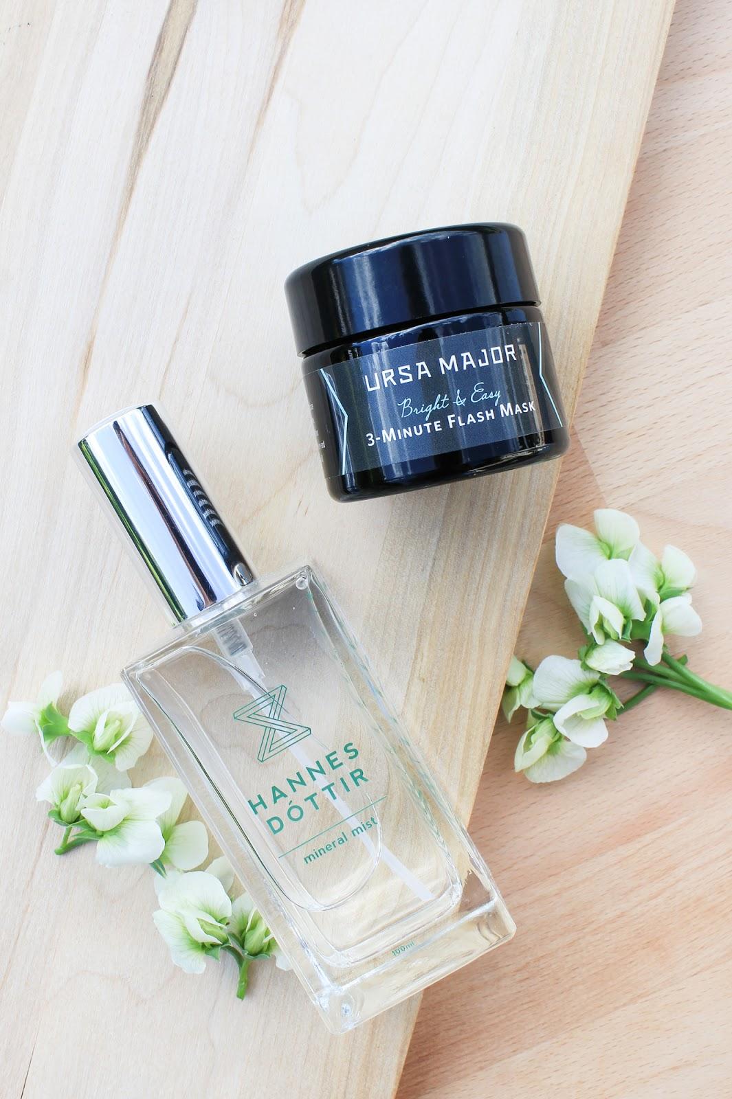 June 2018 Art Of Organics Clean Beauty Box LAGOON. Hannes Dottir Mineral Mist and Ursa Major 3-Minute Flash Mask