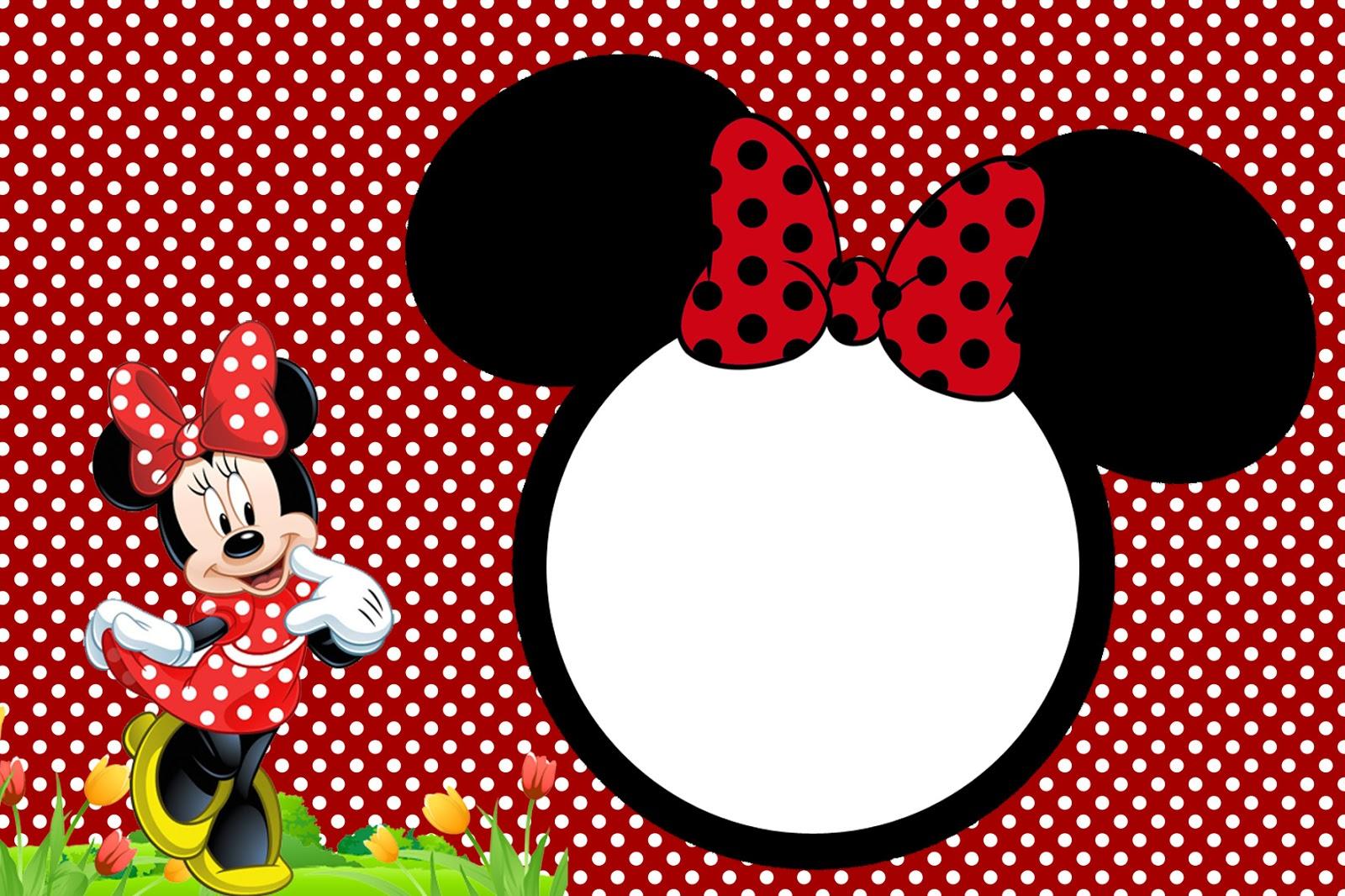 Artesanato Ideias De Natal ~ Kit digital grátis para imprimir Minnie Vermelha