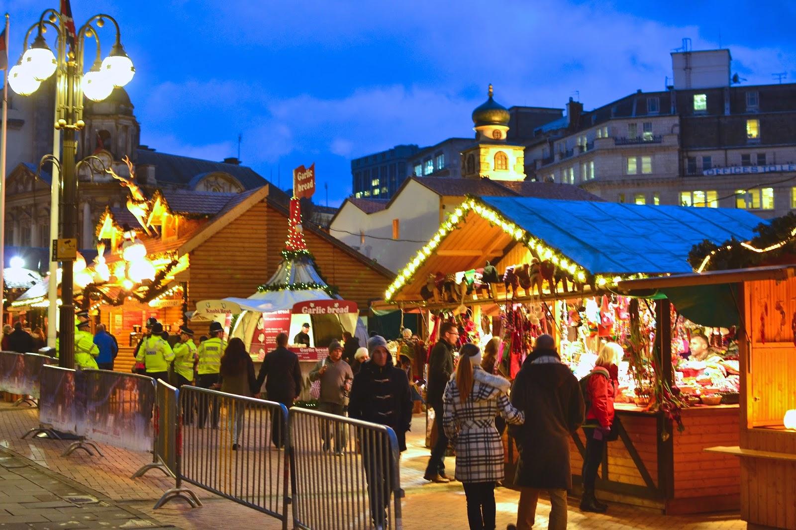 Birmingham Christmas Market Garlic Bread Stall