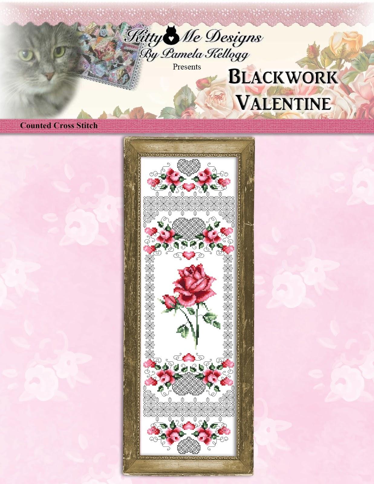 Blackwork Fruit Pears Cross Stitch Pattern Leaflet by Pamela Kellogg