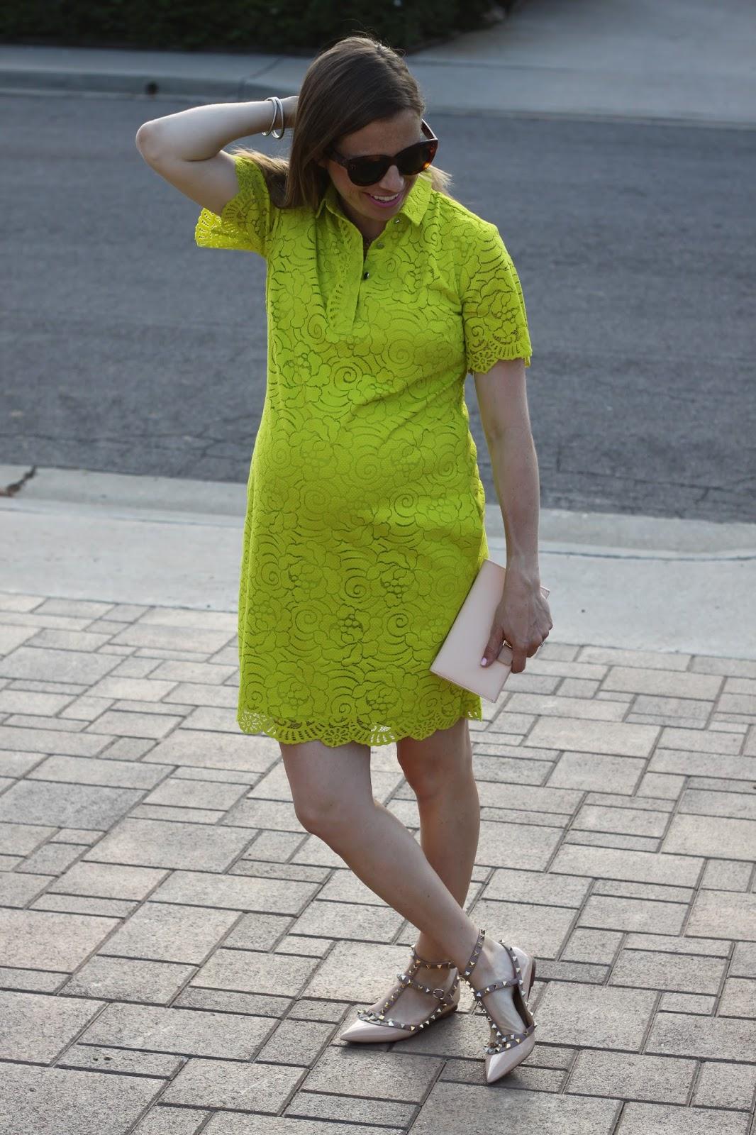 maternity lace dress and rockstuds