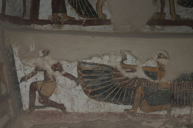 Paintings from the tomb of Petosiris at Muzawaka (XIX)