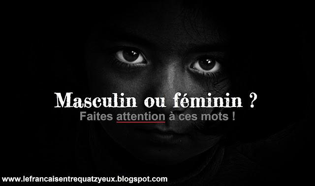 masculin ou feminin français