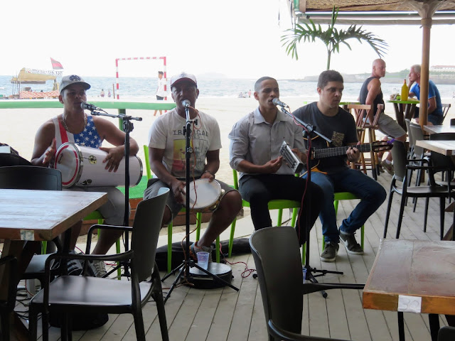 Brazilian Musicians playing at Nativo on Copacabana Beach in Rio de Janeiro