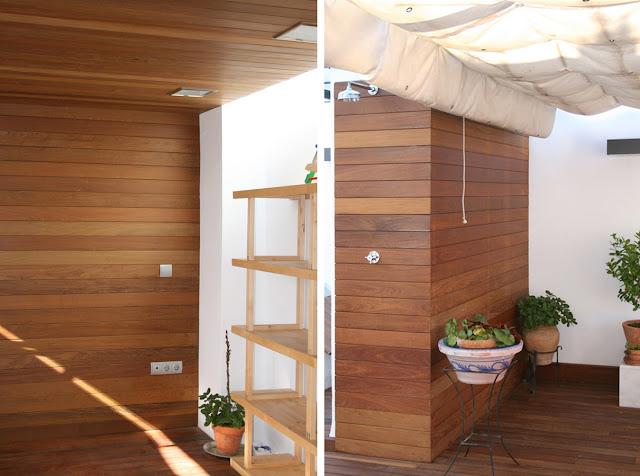 revestimiento exterior realizado con duelas de madera maciza de ip colocadas mediante sistema de fijacin oculta sobre estructura interior de madera - Revestimiento Exterior