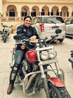 First Indian woman biker of Harley Davidson - Veenu Paliwal