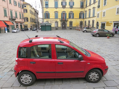 Fiat Panda (Economy) with small baggage area. Pontremoli, Tuscany.