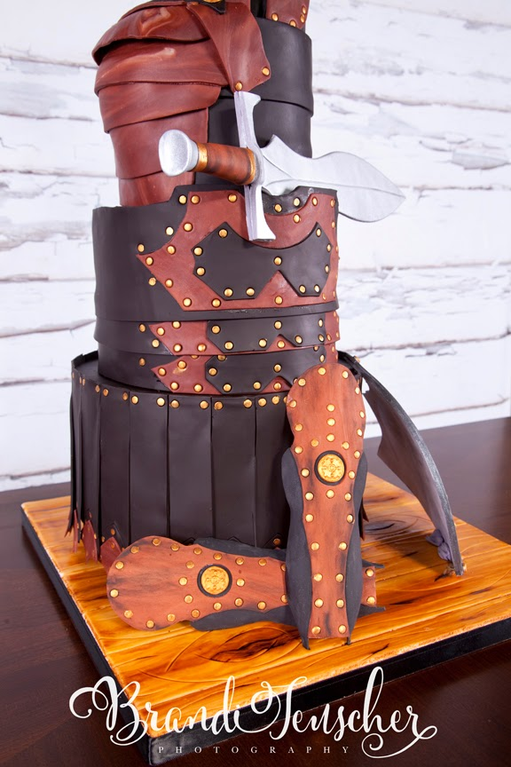 Delectable Cakes Armor Of God Baptism Cake