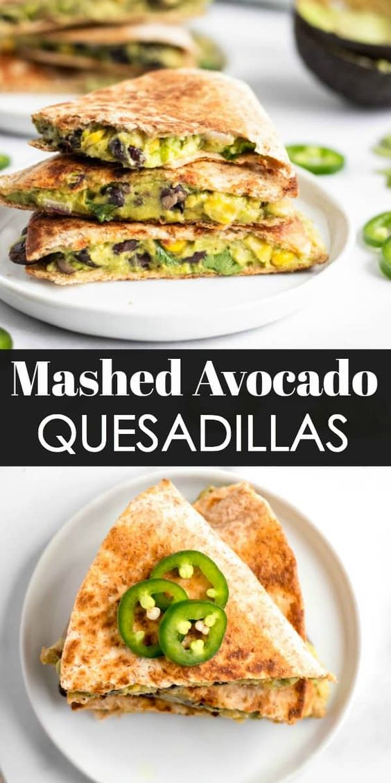 Mashed Avocado Quesadillas