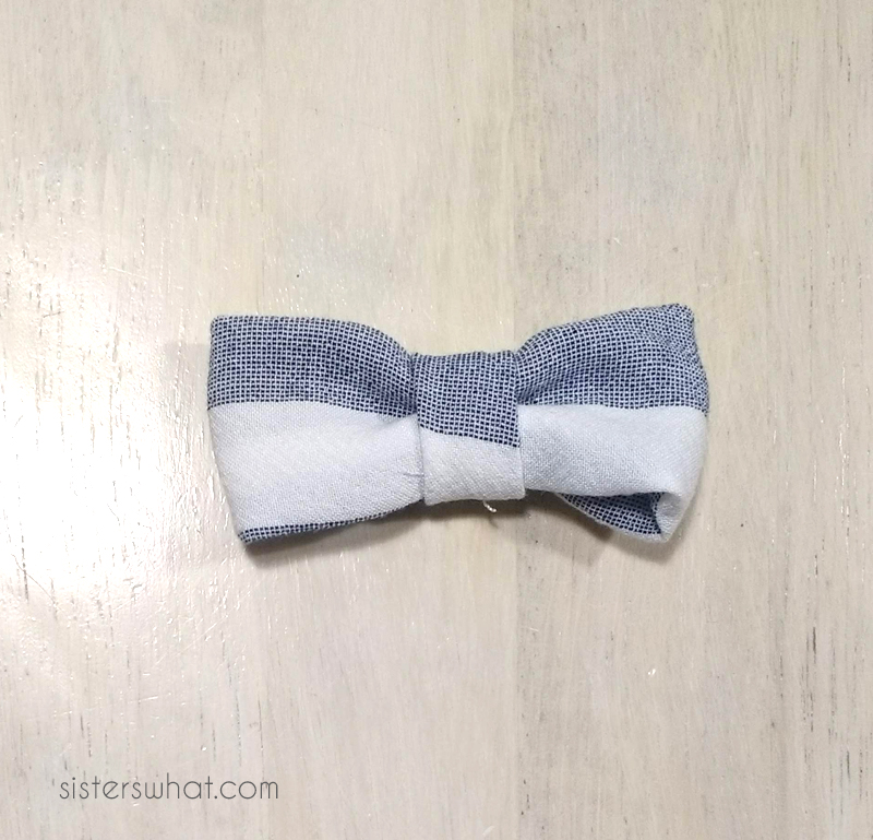 diy bow tie tutorial for shirt