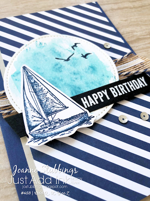 Jo's Stamping Spot - Just Add Ink Challenge #458 using Sailing Home stamp set by Stampin' Up!