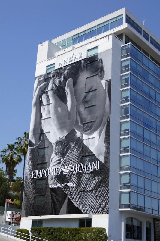 Emporio Armani Shawn Mendes billboard