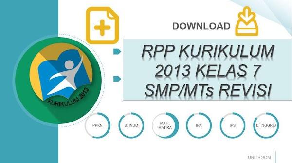 RPP KURIKULUM 2013 SMP/MTs KELAS 7 (VERSI KEMDIKBUD)